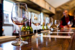 Winery-Insurance-Group-of-Wine-Glasses-Being-Displayed-for-a-Tasting